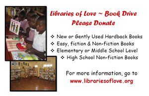 Libraries of Love Book Drive Flyer