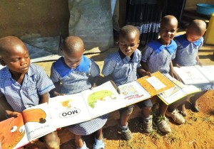 Libraries of Love students reading