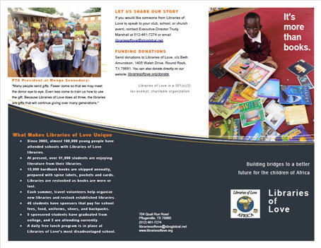 2016 Libraries of Love brochure