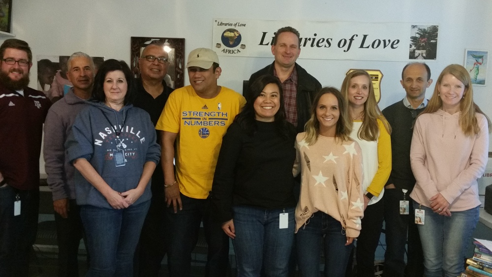 Dell staff volunteer at Libraries of Love